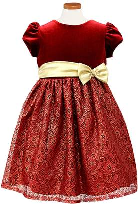 Sorbet Velvet & Lace Dress