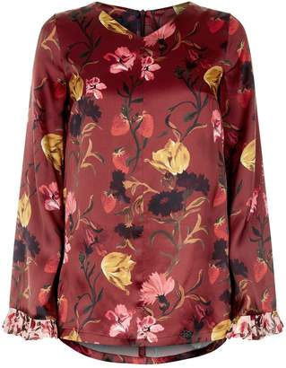 Mother of Pearl Kathleen Floral Silk Blouse