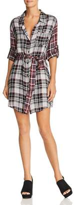 Aqua Mixed-Plaid Shirt Dress - 100% Exclusive