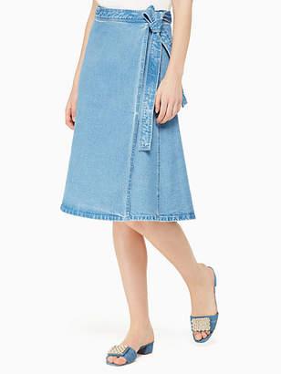 Kate Spade Vintage denim wrap skirt
