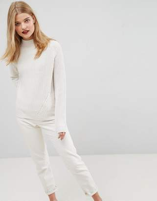 Asos Ultimate Chunky Jumper With Slouchy High Neck