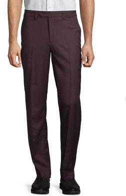 Slim Fit Flat Front Dress Pants
