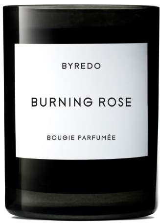 Burning Rose Candle
