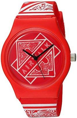Airwalk クォーツプラスチックとシリコンCasual Watch , Color :レッド( Model : aww-5089-re )