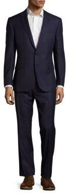 Polo Ralph LaurenStandard Fit Windowpane Wool Suit