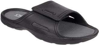 Chaps Men's Perforated Slide-On Sandals