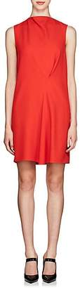 Victoria Beckham Women's Satin-Back Crepe Shift Dress - Candy Red