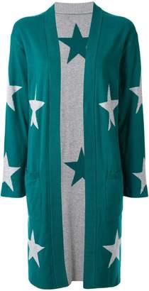 GUILD PRIME star intarsia knit cardi-coat