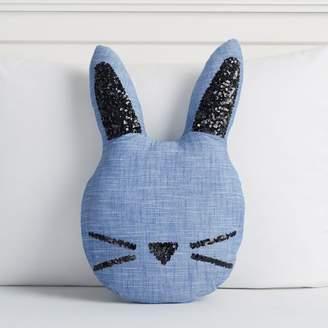 Pottery Barn Teen The Emily &amp Meritt Chambray Bunny Pillow, Chambray