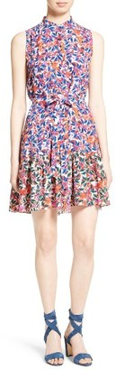 Women's Saloni Tilly Print Silk Fit & Flare Dress $395 thestylecure.com