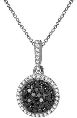 Black Diamond FINE JEWELRY LIMITED QUANTITIES 1/3 CT. T.W. White & Color-Enhanced Circle Necklace