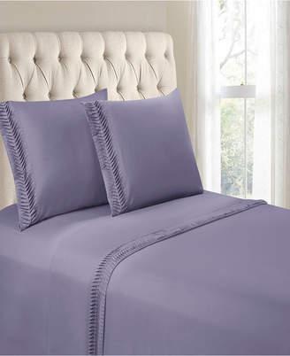 Hudson Cathay Home Inc. & Main Arrow Pleated Hem 4 Pieces Full Sheet Set Bedding