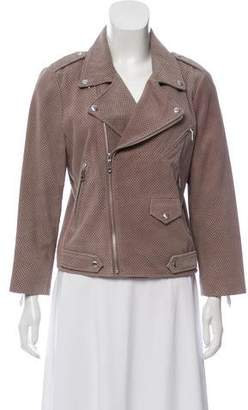Rebecca Minkoff Perforated Suede Biker Jacket w/ Tags
