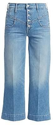Mother Women's Swooner Roller Corset Wide-Leg Jeans