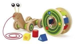 Hape Toys Wooden Walk-A-Long Snail Toy