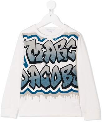 Little Marc Jacobs graffiti logo print top