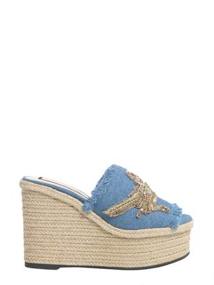 N°21 Denim Mule Sandals