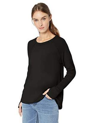 Michael Stars Women's Madison Brushed Jersey Scoop Neck Long Sleeve Top