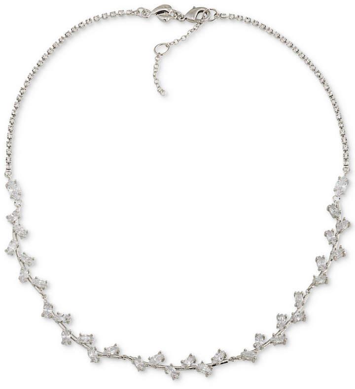 CaroleeCarolee Silver-Tone Crystal Collar Necklace