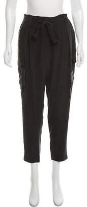 L'Agence Silk High-Rise Cargo Pants
