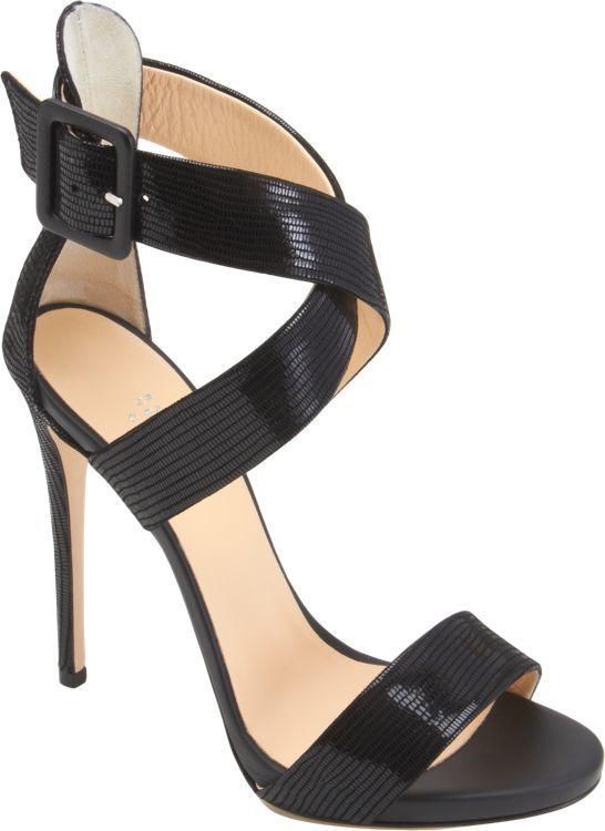 Barneys New York Crisscross-Strap Sandals-Black