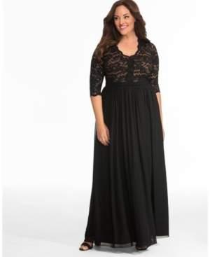 Kiyonna Women's Plus Size Jasmine Lace Evening Gown