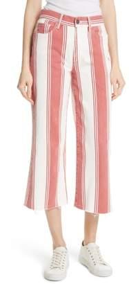 Frame Vintage Stripe Crop Jeans
