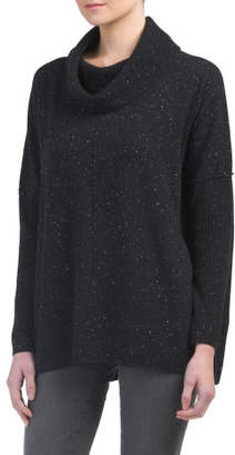 Cashmere Donegal Tweed Boxy Sweater