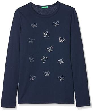 Benetton Girl's T-Shirt L/s,One (Size: X-Small)