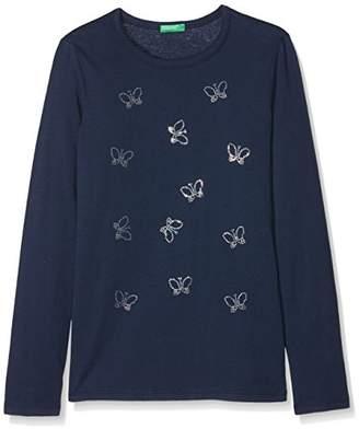 Benetton Girl's T-Shirt L/s T-Shirt,(Manufacturer Size: XX)