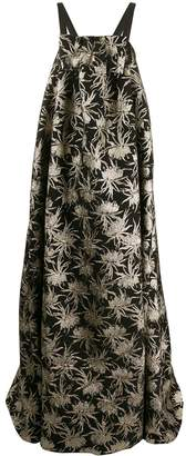 Rochas floral embroidered evening gown