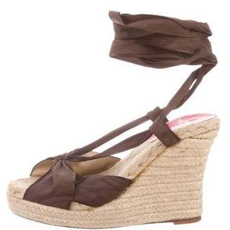 Christian Louboutin Bow-Accented Espadrille Sandals