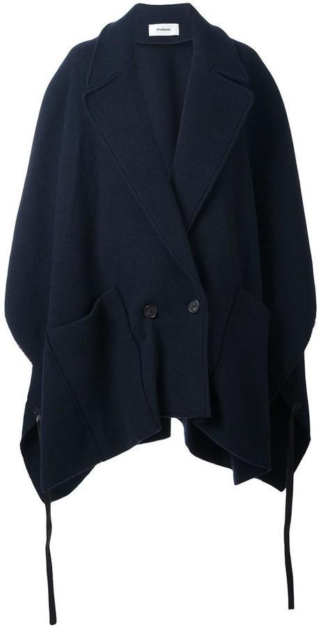 ChalayanChalayan pocket poncho coat