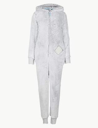 Marks and Spencer Fleece Textured Long Sleeve Onesie