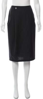CNC Costume National Wool Knee-Length Skirt