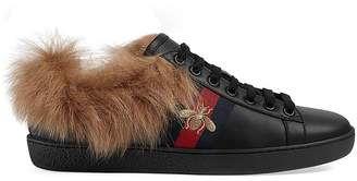 Gucci Women's New Ace Fur-Lined Sneakers