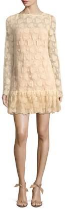 Miu Miu Women's Flounce Hem Lace Shift Dress