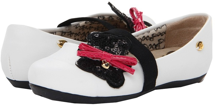 Pampili Amorzinho (Toddler/Little Kid) (White/Black) - Footwear