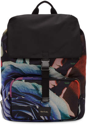 Paul Smith Multicolor Collage Rose Backpack