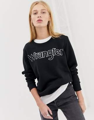 Wrangler metallic logo sweatshirt