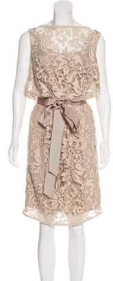 Tadashi Shoji Embroidered Sleeveless Dress