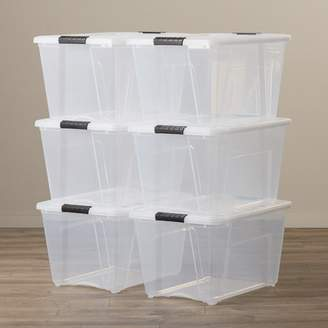 Rebrilliant Stack and Pull Modular 6 Piece 53.65 oz. Plastic Storage Tote