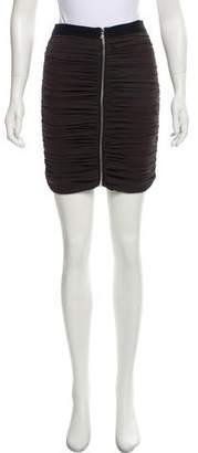 Laila Azhar Ruched Silk Skirt