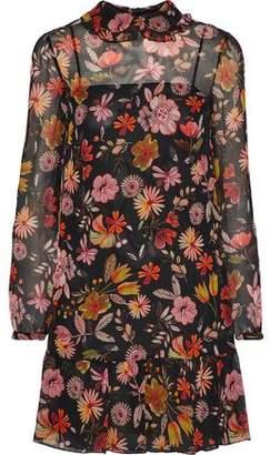 RED Valentino Floral-Print Silk-Georgette Mini Dress