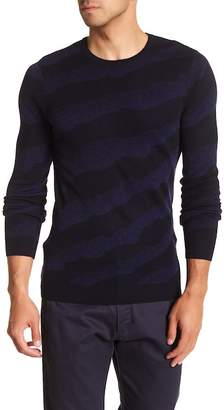 Jared Lang Long Sleeve Woven Sweater