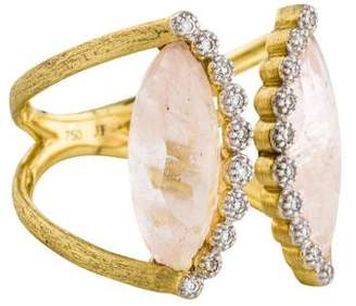 Jude Frances 18K Morganite & Diamond Cocktail Ring