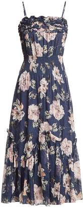 Rebecca Taylor Magnolia floral-print silk-blend dress