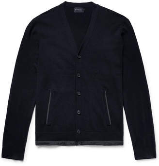 Club Monaco Slim-Fit Shell-Trimmed Wool Cardigan