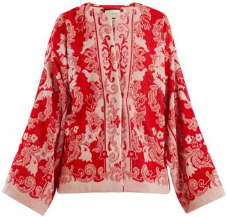 Gucci Floral-jacquard terry-towelling jacket