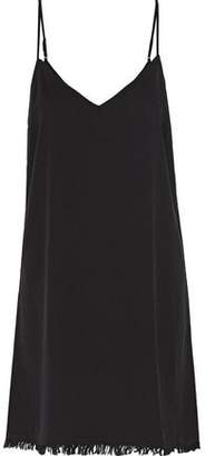 Splendid Fringed Crepe Mini Dress